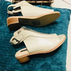 NWOB Forever 21 Cream Ankle Slingback Booties 5.5